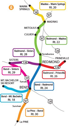 Community Connector route map