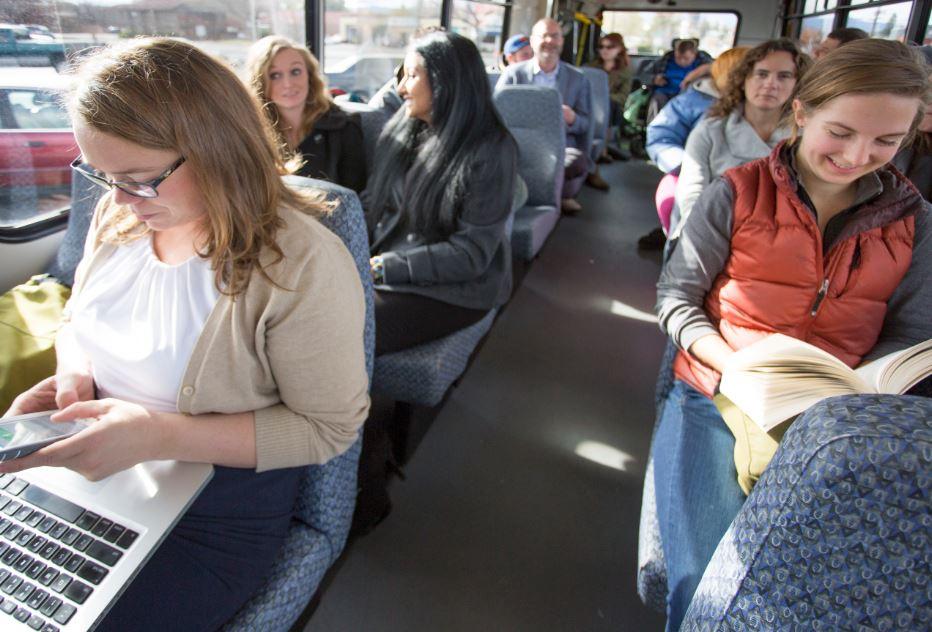 Photo inside CET bus