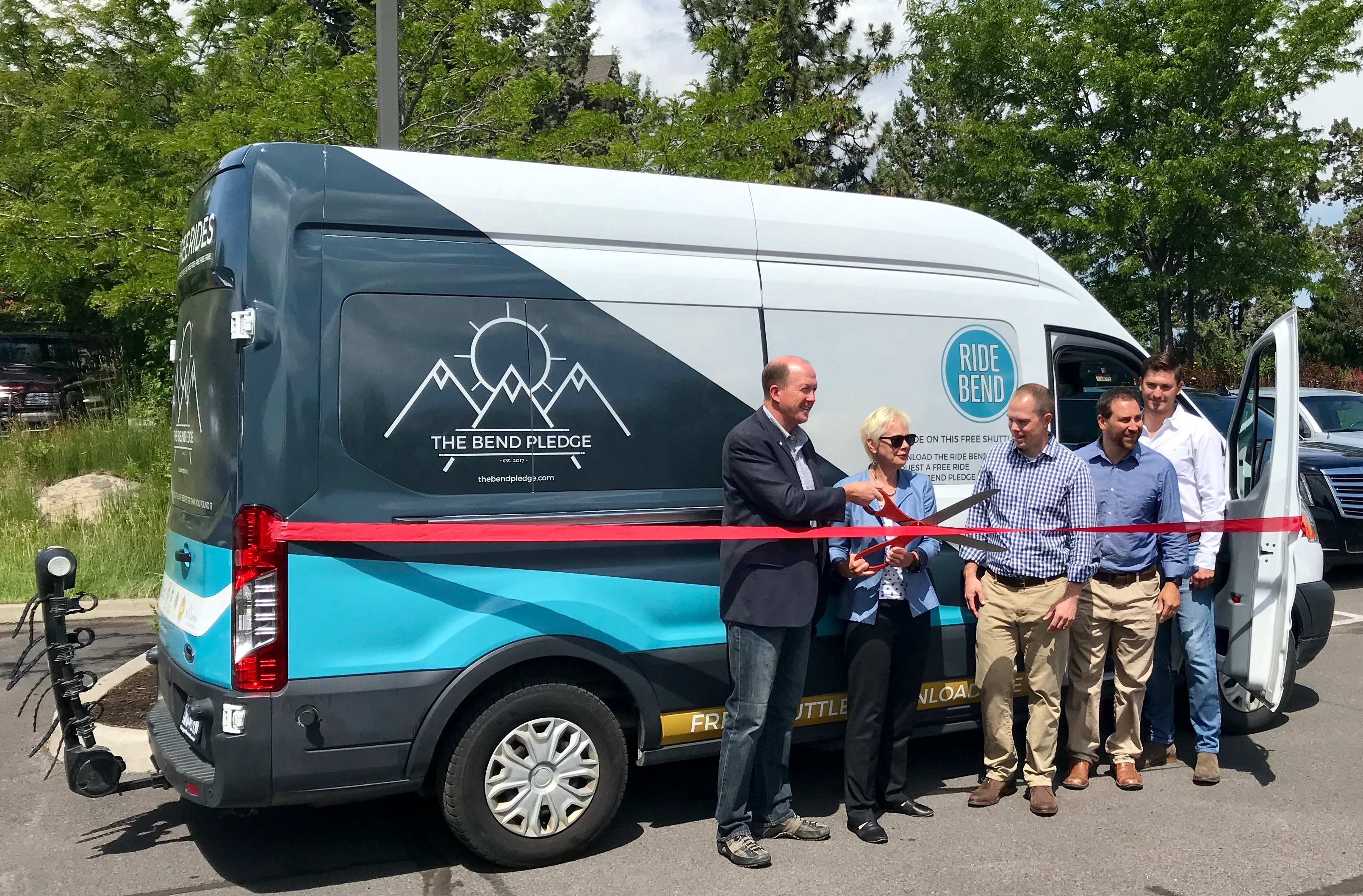 Ribbon Cutting Ceremony for Ride Bend Microtransit