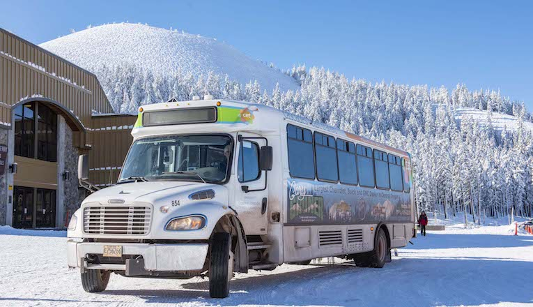 Photo of CET Bus at Mt. Bachelor