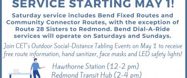 saturday service flyer