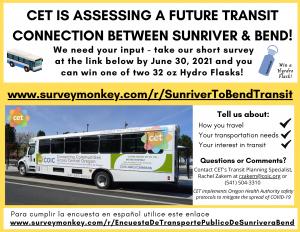 bend to sunriver survey flyer