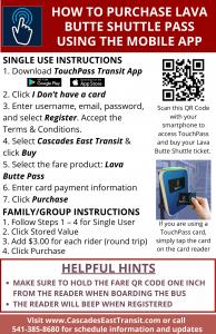 E-fare instructions