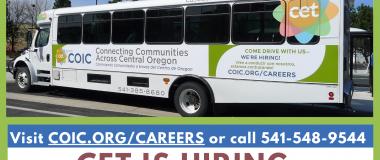 CET driver hiring poster