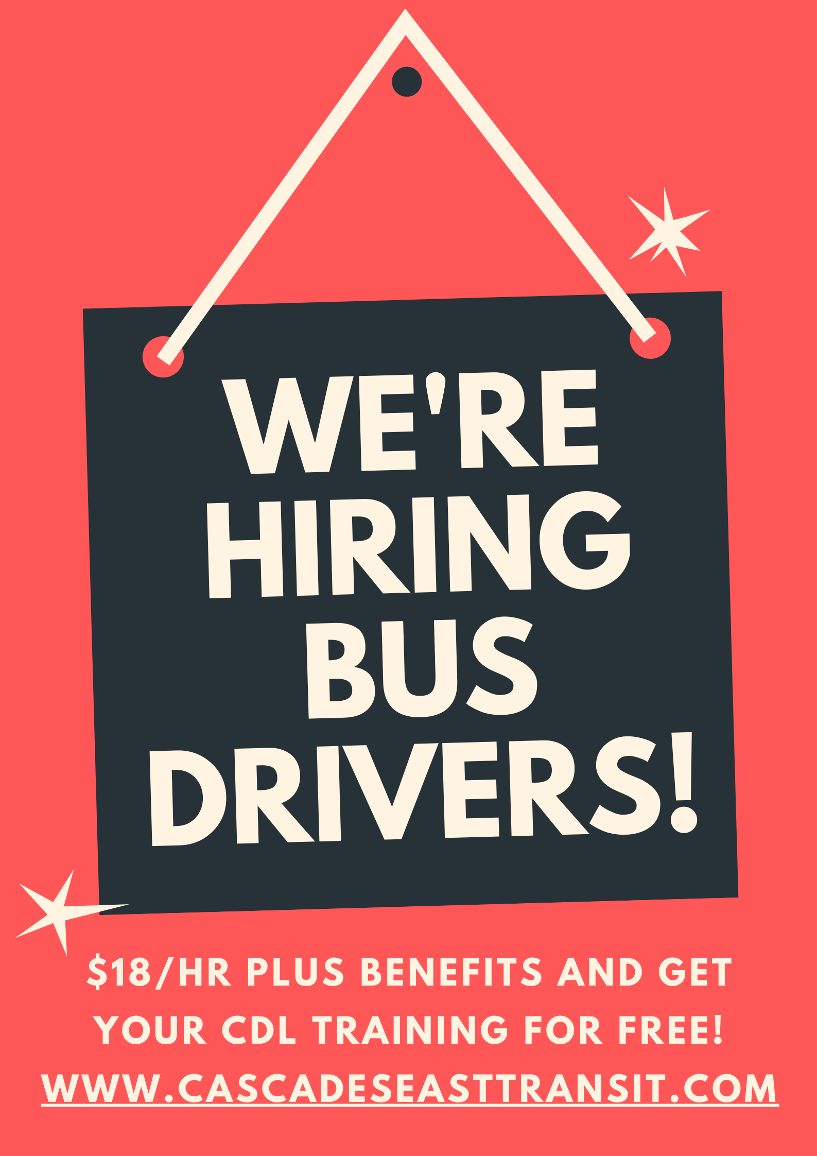 bus driver hiring flyer