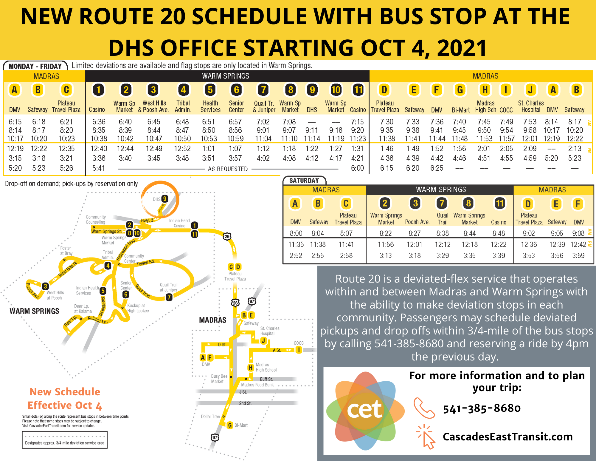 RT 20 DHS stop flyer